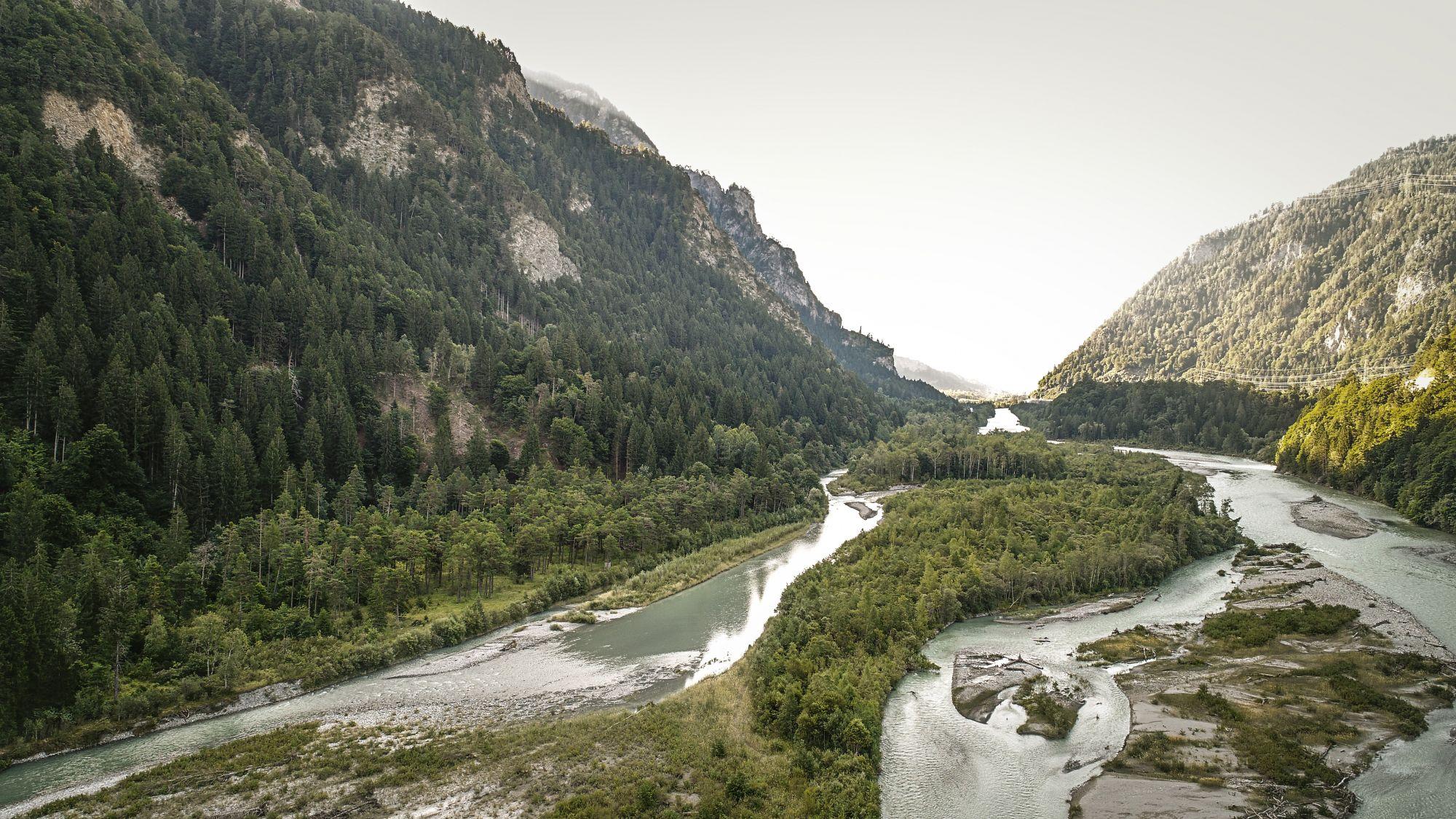 National geschützte Auen des Hinterrheins